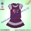 Jianer nueva llegada 100% de algodón superior de verano los niños marca de ropa para niñas
