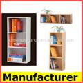 Diseño nuevo y moderno de madera libro de casos, estante de libros