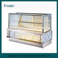 de alta calidad de torta de vidrio del refrigerador vitrina