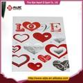 2014 caliente venta de día de san valentín regalos en forma de corazón hecho a mano tarjetas de felicitación