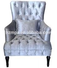 muebles para el hogar decoración buttoned francés de madera sillas de ocio