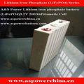 Alta capacidade recarregável 3.2v 200ah lifepo4 bateria baterias de lítio para ev/armazenamento