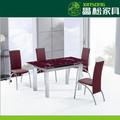 metal e vidro mesa de jantar