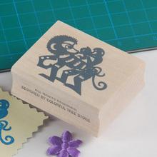 juguete de madera sellos sellos de goma sellos de arte