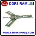 Piezas de la computadora de tarjetas de memoria ram ddr3