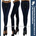 mujeres de moda de estilo colombiano tope de elevación push up jeans stretch con efecto de bordado en el bolsillo