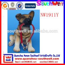 caliente de la venta por encargo de los animales polyresin perro manualidades para el hogar decoratiion