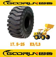 Cargadora de ruedas y neumáticos otr 17.5-25 con el patrón e-3/l-3