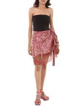 reversible de dos capa abrigo de seda falda de verano desgaste falda corta