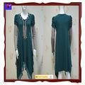 Wal- mart 2013 aprobado el último venta caliente verde damas de encaje vestido coreano para el invierno