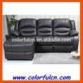 Couro sofá da forma l com poltronas reclináveis/eu sofá em forma de desenhos ls627a