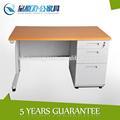 Fonte da fábrica de mesa de escritório com madeira top, metal cavalete