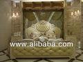 de lujo de estilo francés juego de dormitorio muebles de madera tallada de la cama