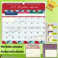 wt-cld-487 2013 calendario de pared de impresión con la carpeta de archivos de diseño