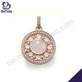 chapado en oro rosa de plata colgante de imagenes de collares de piedras