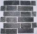 mosaïque de pierre de quartz noir