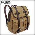 resistente lona vintage de cuero con mochila mochila