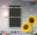 195w de la célula solar de china, 195w mono cristalina panel solar para la generación de energía