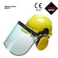 stecho cara visera y orejeras escudo casco de seguridad orejeras