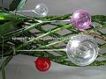 Hecho a mano de bolas de Navidad de acrílico transparente que cuelga esfera decoración