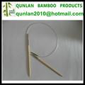 circular de bambú para hacer punto de la aguja