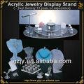 Joyería de moda de stands de exposición para el anillo de plástico collar de la joyería organizador para la venta