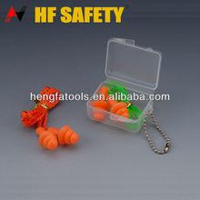 No- tóxico de silicona tapones para los oídos con cadena tapón reutilizable