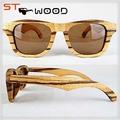 uv400 lente de óculos de bambu zebra madeira óculos de sol