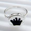 rodio anillo chapado nuevo diseño del anillo sivler esterlina DR014033R-3.8g aceptada por PayPal