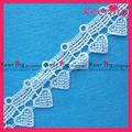 manera la forma del corazón adornos de encaje guipur bordado WLC-083