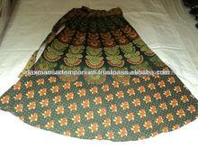 impreso faldas largas de la india