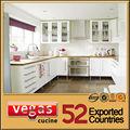 deluxe venta caliente moderno blanco gabinetes de la cocina