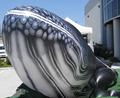 PVC ballena inflable, modelo globo de helio para la exhibición, publicidad ballena inflable