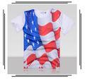 American apparel t 100% camisa de algodón patrón de idoneidad sprot hombre t- shirt