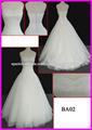 2014 guangzhou alta calidad princesa Tulle del amor hinchada una línea vestidos de boda con rebordear pesado para las mujeres BA