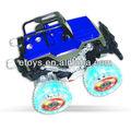Carro do rc, cor azul carro dublê rc com luz e brinquedos da criança