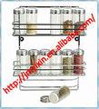 Fil d'acier sel et poivre Étui/Épices et les sauces de stockage en rack/affichage titulaire