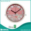 guangzhou 10 polegadas rodada plástico quartzo rosa ovelhas cantoon fotos relógio de parede