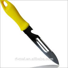 samll serrado cuchillo de pelar frutas y ensalada de cuchillo