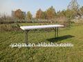 Rectangular de plástico plegable de mesa, mesa hdpematerial
