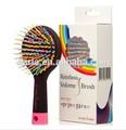 Corea Rainbow Volume Brush Wave cepillo de pelo con espejo peine de plástico