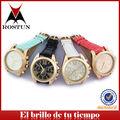 2014 relojes de pulsera de diversos colores caja de aleación dorada