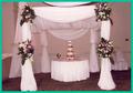 Drapeado al aire libre tubería, Tubería de la boda y drapeado, tubo portátil y cortina, cortinas blancas para bodas Decoración