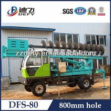 china económico hidráulico de gran alcance 800mm pequeños montones de conducción de la máquina