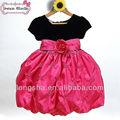 la princesa americana vestidos de flores niña vestido de fiesta de la boda vestidos con mangas de cumpleaños de los niños