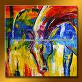 pintado a mano conjunto tradicional de acrílico pintura de caballos