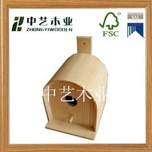al aire libre fsc decorativos de madera casa del pájaro logotipo de oem