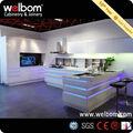 Welbom Estilo Nuevo de Alto Brillo LED Light Cocina Empotrada