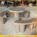 jardín de piedra natural de mesa y un banco