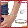 feminino chapeado magnético pulseiras pulseira repelente sólido link pulseira jóias